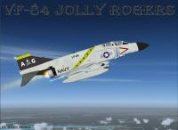 US Navy F-4 Phantom II VF-84 Jolly Rogers in flight.