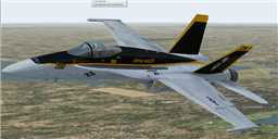 US Navy F/A-18C Royal Maces in flight.