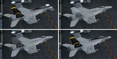 Four US Navy F/A-18E VFA-103 textures.