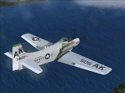 US Navy Douglas A-1 Skyrider in flight.