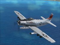 US Navy Douglas A-1H Skyrider VA-35 in flight.