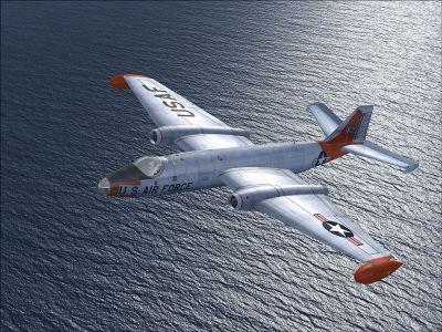 USAF EB-57A in flight.