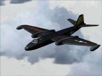 USAF EE Canberra in flight.
