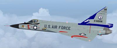 USAF Convair F-102 Delta Dagger 118th FIS in flight.