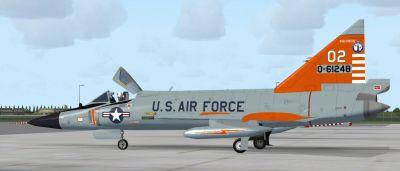 USAF Convair F-102 Delta Dagger 176th FIS.