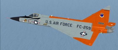 USAF Convair F-102 Delta Dagger Fc-259 in flight.