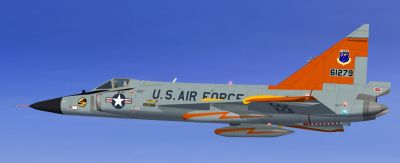 USAF Convair F-102 Delta Dagger in flight.