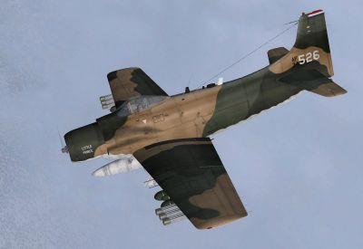 USAF Douglas A-1H Skyraider 34-526 in flight.