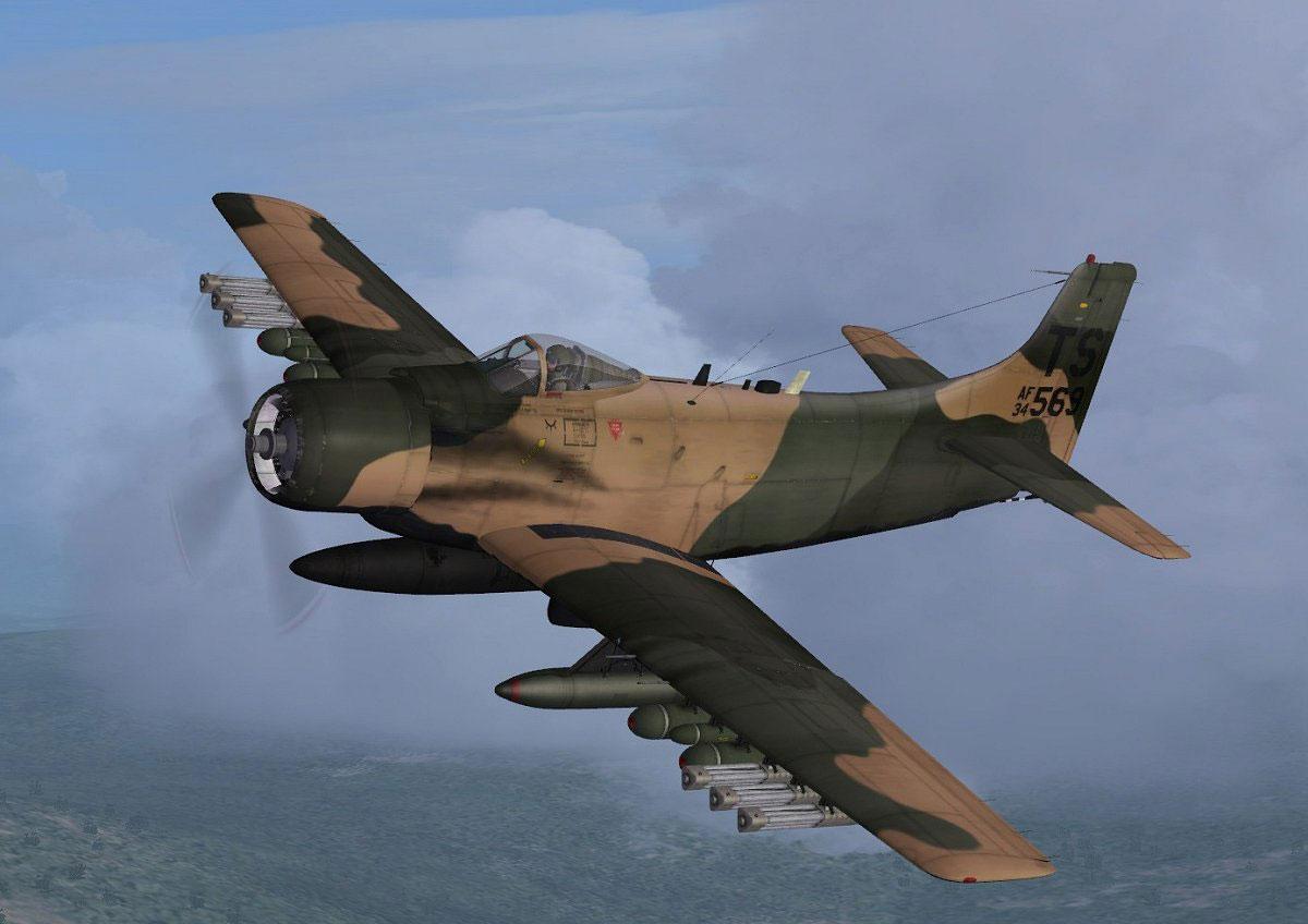 Usaf Douglas A 1h Skyraider 34 569 For Fsx