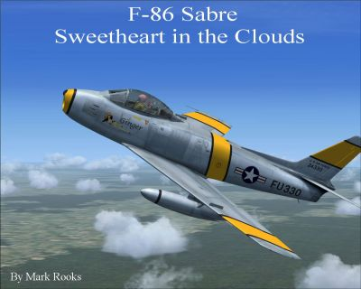 USAF North American F-86 Sabre in flight.