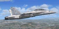 USMC VMFAT-101 F/A-18D in flight.