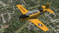 USMC Beechcraft T-34B Quantico in flight.