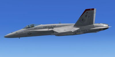 VMFA-232 F/A-18A in flight.