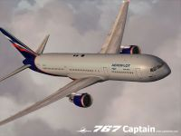 Captain Sim's 767-300 with Aeroflot livery applied.