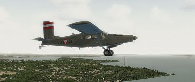 Austrian Air Force PC-6C Turboporter in flight.