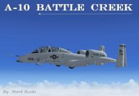 Battle Creek Michigan ANG A-10 in flight.