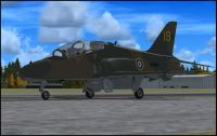Battle of Britain Hawk T1 on runway.