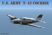 Beech T-42 Cochise in flight.