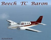 Beechcraft TC Baron in flight.