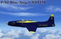 Blue Angels Lockheed P-80 in flight.