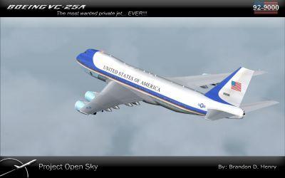Boeing VC-25A in flight.