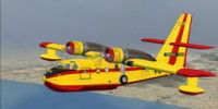 Canadair CL215 in flight.
