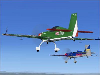 Castrol Aviator Extra 300S in flight.