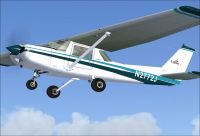 Cessna 150 N2772J in flight.