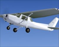 Blank Cessna 152 in flight.