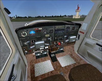 Virtual cockpit of Cessna 152.