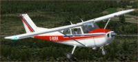 Cessna 172 G-BCKV in flight.