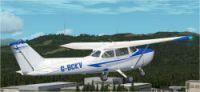 Cessna 172 G-BOBV in flight.