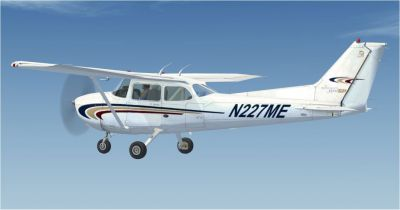 Cessna 172SP Millennium Edition in flight.
