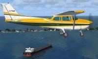 Cessna 172SP 1972 Skyhawk in flight.
