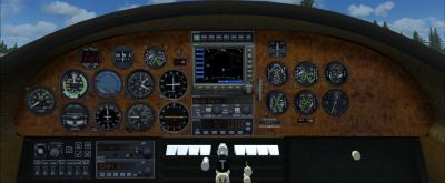 "Virtual cockpit of Cessna 195 ""Shakey Jake""."
