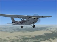 Cessna C172 N800JP in flight.