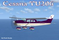 Cessna TU206 in flight.