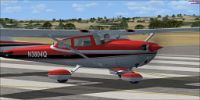 Cessna Skyhawk 172 Red on runway.