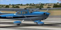 Cessna Skyhawk 172 on runway.