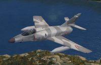 Dassault Super Etendard in flight.