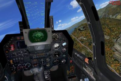 Virtual cockpit of Dassault Super Etendard.