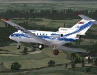 Yakolev Yak-40 in flight.