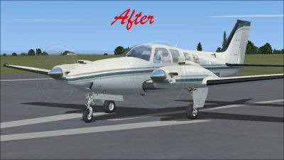 (After) Default Beech Baron 58 on runway.