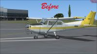 (Before) Default Cessna 172 on runway.