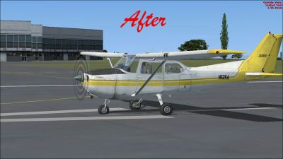 (After) Default Cessna 172 on runway.