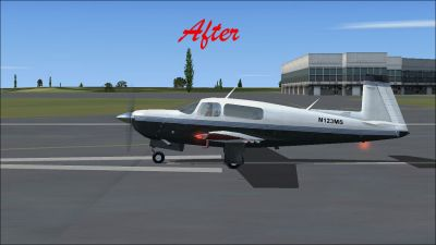 (After) Default Mooney Bravo on runway.