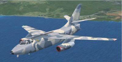 Douglas A-3 Skywarrior in flight.
