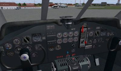 Virtual cockpit of Douglas C-124 Globemaster II.