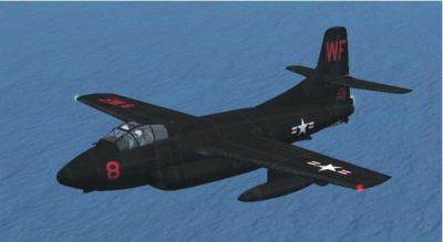 Douglas F3D Skynight in flight.