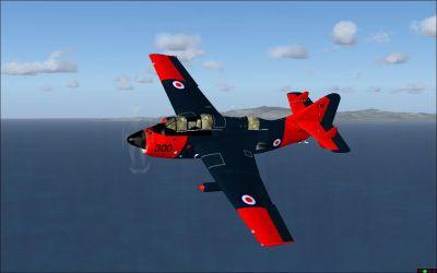 Fairey Gannet in flight.
